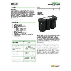 0120708 Spec Sheet