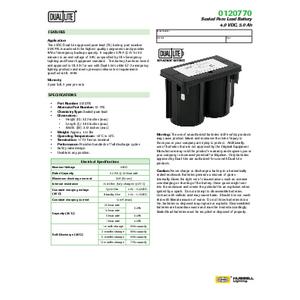 0120770 Spec Sheet