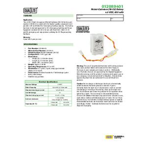 012089401 Spec Sheet