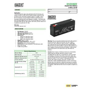 0120922 Spec Sheet
