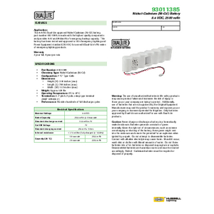 93011385 Spec Sheet