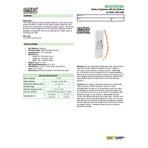 93015994 Spec Sheet