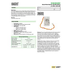 93035262 Spec Sheet