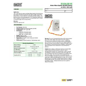 93043816 Spec Sheet