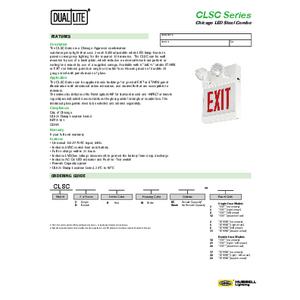 CLSC Spec Sheet