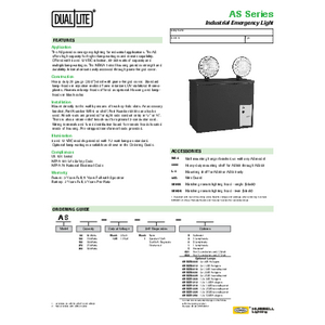 AS Series Maintenance-Free specification sheet
