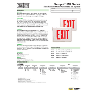 Sempra MR specification sheet