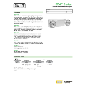 EZ-2 specification sheet