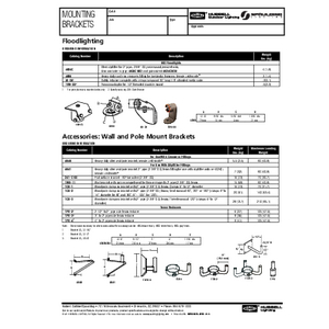 Mounting Brackets Spec Page