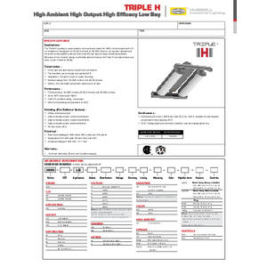 Triple H Low Bay Specification Sheet