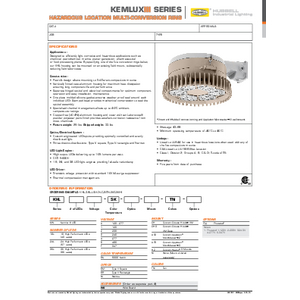 Hazardous Conversion Ring Specification Sheet