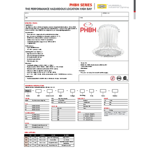 PHBH Specification Sheet