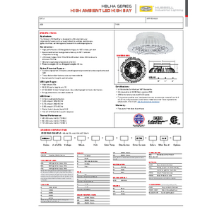 HBLHA Specification Sheet