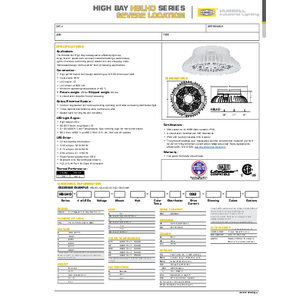 HBLHO Specification Sheet