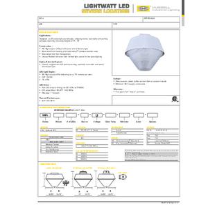 Lightwatt LED Specification Sheet