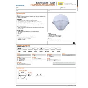 Hazardous Lightwatt LED Specification Sheet