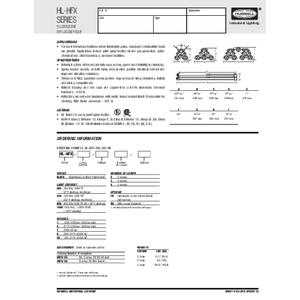 HL-HFX Specification Sheet