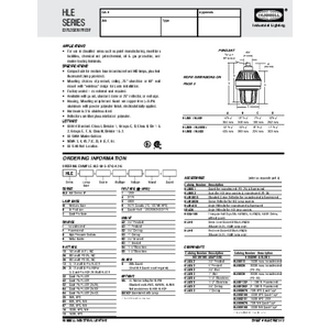 HLE Specification Sheet