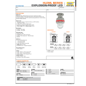 HLEML Specification Sheet