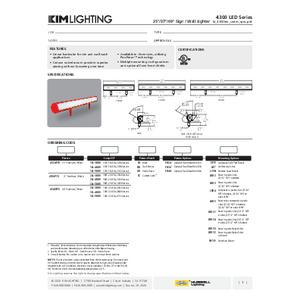 4300 Series Spec Sheet