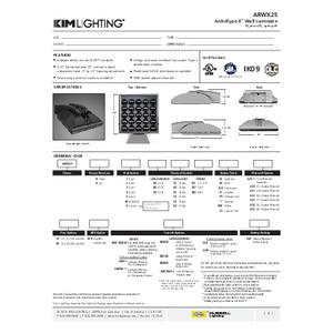 ARWX25 Spec Sheet