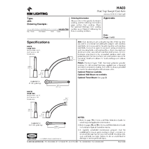 HA03 - Post Top Swept Cast Arm