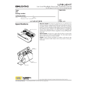 LLF40-LED-KIT Specification Sheet