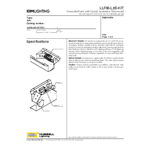 LLF60-LED-KIT Specification Sheet