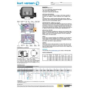 D4216 Specification Sheet