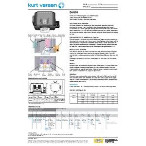 D4516 Specification Sheet