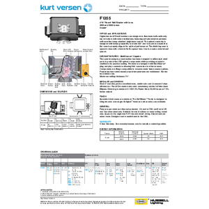 F1355 4000-5000lm Specification Sheet