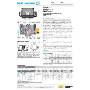 F2333_35_37 4000/5000lm Specification Sheet