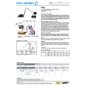 F255 Specification Sheet