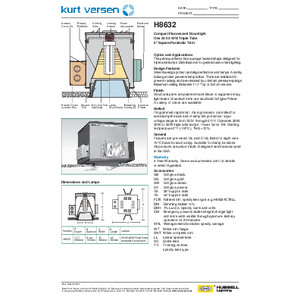 H8632 Specification Sheet