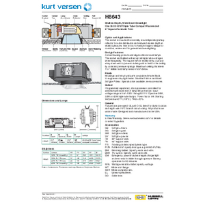 H8643 Specification Sheet