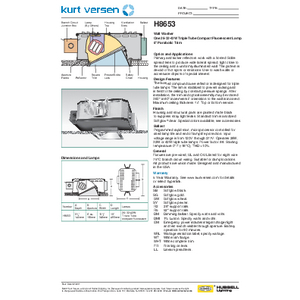 H8653 Specification Sheet