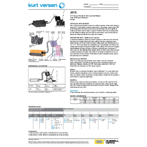 J315 Specification Sheet