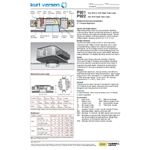 P921_22 Specification Sheet
