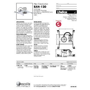 BX4-120 Specification Sheet