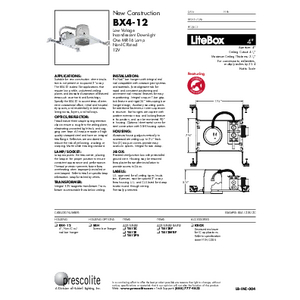 BX4-12 Specification Sheet