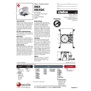 DBX/DBXQC Specification Sheet