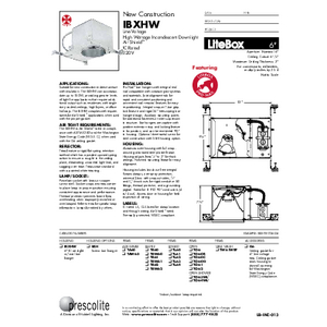 IBXHW Specification Sheet