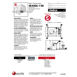 IBX4QL-120 Specification Sheet