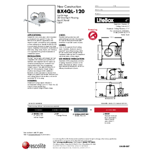 BX4QL-120 Specification Sheet