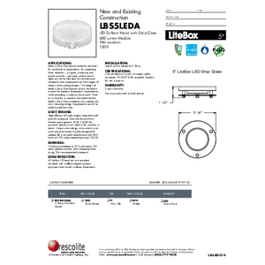 LBS5LEDA DG Specification Sheet