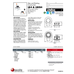 LB4 & LBEB4 Specification Sheet