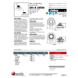 LB6 & LBEB6 Specification Sheet