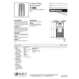 1102 Specification Sheet