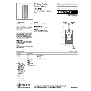 1122 Specification Sheet