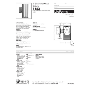 1152 Specification Sheet